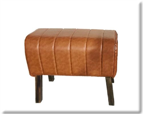 68cm Rolled Natural Faux Leather Gym Pommel Horse Stool